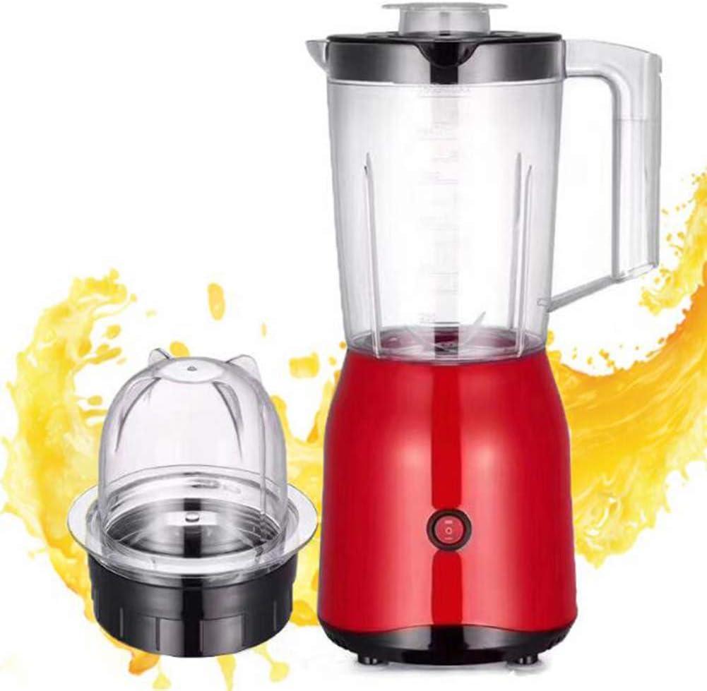QOUDU Licuadora de frutas, Smoothie Maker, Extractor de nutrientes con 4 cuchillas de acero inoxidable 304 PCS, Protección contra fallas eléctricas de 30 segundos, Inicio con un botón