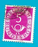 Used German Postage Stamp %281951%29 5 p