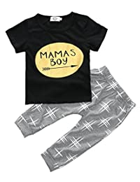Zhuannian Baby Boys Clothes 2PCS Outfit Set Long Sleeve Tops with Stripped Pants