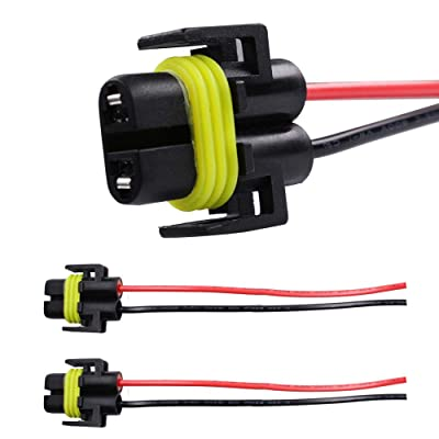 HUIQIAODS H11 H8 881 880 Female Adapter Wiring Harness Socket Connector For Headlight or Fog Light 2pcs: Automotive