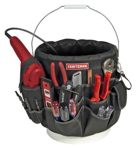 Craftsman 56 Pocket 5 Gallon Bucket Bag Holder (Bucket Organizer Pocket 56)