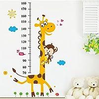 Kids Room Removable Cartoon Animal Giraffe Height Ruler...