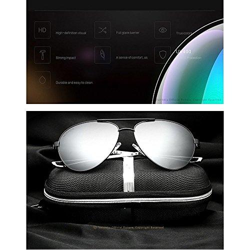 Inoxidable De De Sol Acero Blue Blue Y De para Aluminio Gafas Magnesio De Sol Gafas Polarizadas Hombres U7qRxn6ppw