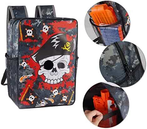 EKIND Target Pouch Storage Pirate Carry Backpack Bag for Nerf N-strike Elite | Mega | Rival Series