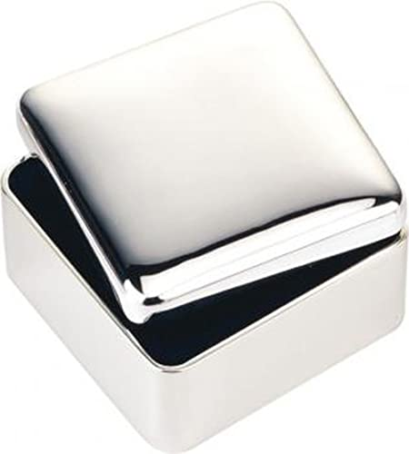 Silver Square Trinket Box Personalised free up to 50 characters.