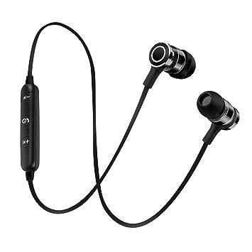 Homyl Auriculares Bluetooth con Cable USB diseño de Botón de Metal Elegante Accesorios Multiusos - Negro