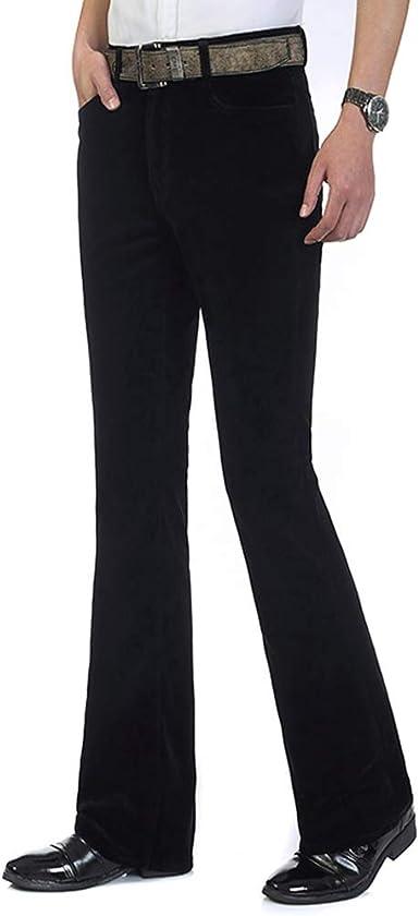 Amazon Com Haorun Pantalones De Pana Para Hombre Estilo Vintage De Los Anos 60 Y 70 Clothing