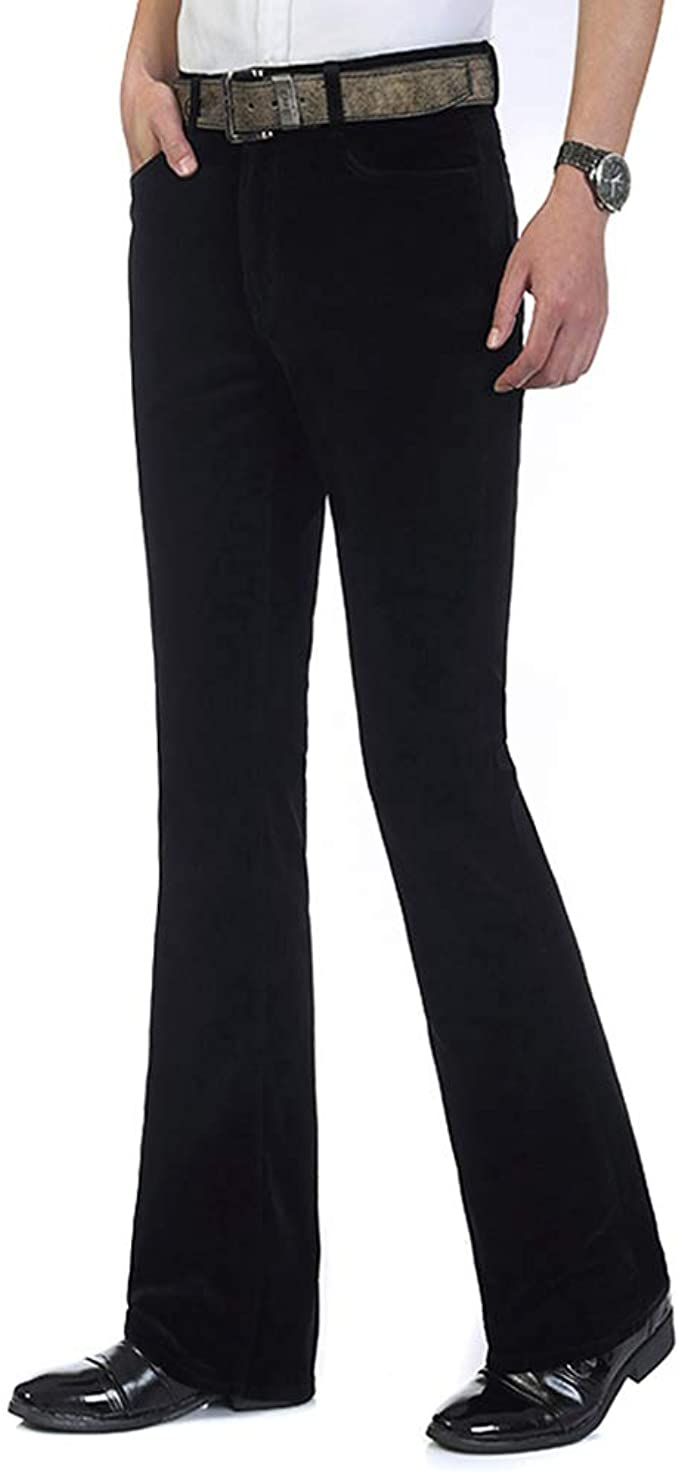 Mens Bootcut Jeans STRETCH Flared Bell Bottom Wide Leg Pants Wide Leg Trousers