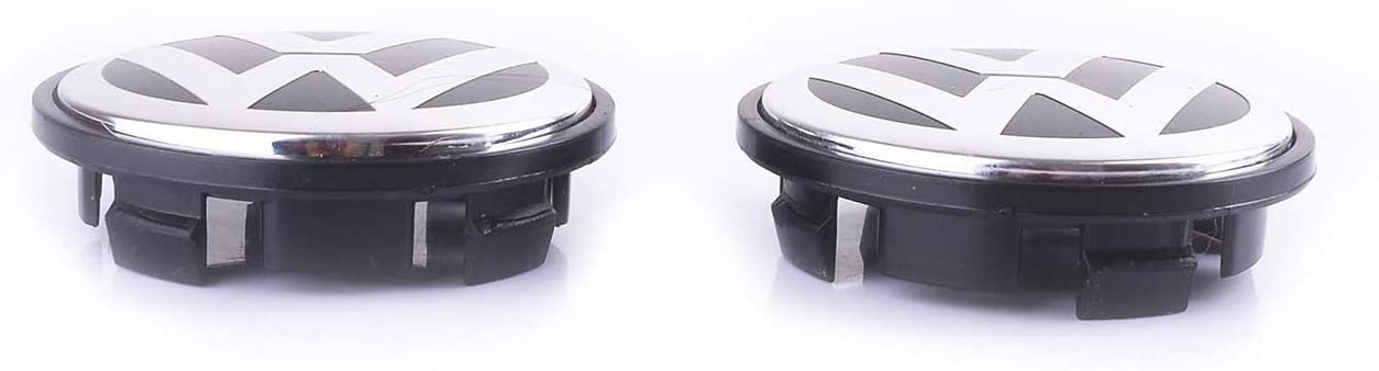 Gitcar Set Caps Replacement of 4 hubcaps of 65mm for Wheel Rim Alloy