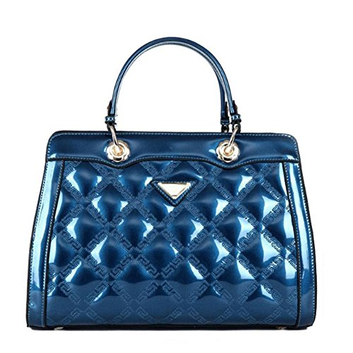 Embossed Patent Leather Satchel - G-AVERIL Embossed Crocodile Purse Genuine Leather Satchel Handbags Office Hanging buckle Bag