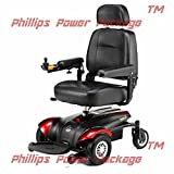 """Merits Health Products - Vision CF - Front Wheel Drive Power Chair - 18""""W x 16""""D - Red - PHILLIPS POWER PACKAGE TM - TO $500 VALUE"""