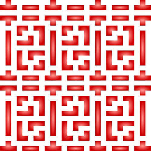 """Chinese Lattice Stencil - (size 6.5""""w x 6.5""""h) Reusable Wall Stencils for Painting - Best Quality Allover Wallpaper ideas - Use on Walls, Floors, Fabrics, Glass, Wood, Terracotta, and More......"""