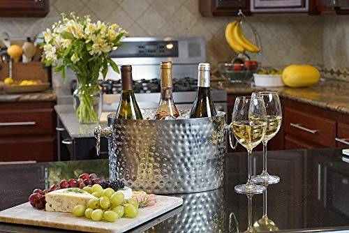 Chic Chill Handcrafted Artisan 3 bottle Champagne and Wine Chiller (Stainless Steel) by Chic Chill (Image #3)