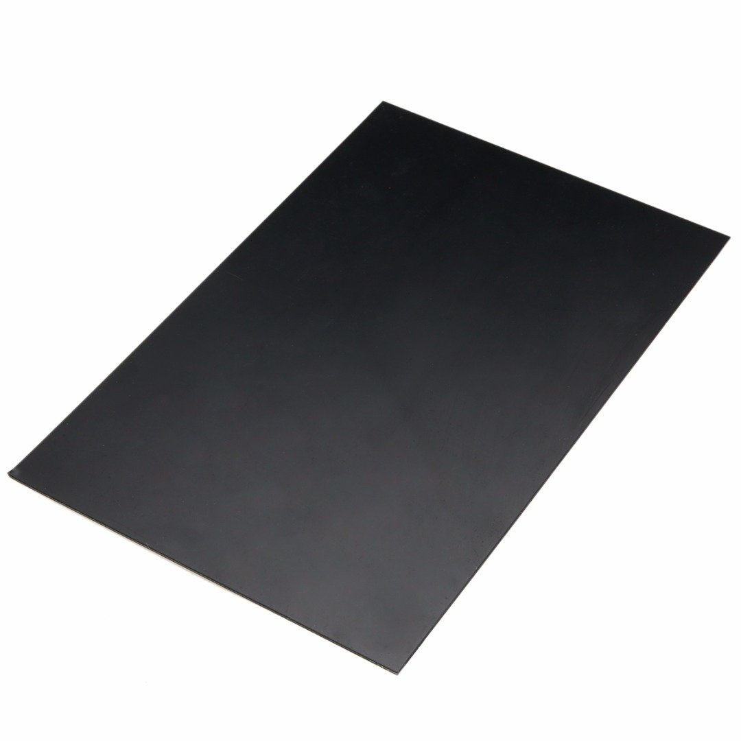 ABS Plastic Sheet Plate Flat Durable Black Smooth 1mm x 200mm x 300mm PDTO