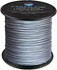 Canasland 100% PE 8 Strands Braided Fishing Line, 1000M 0.63MM Diameter 120 LB, Super Strong and Low Water Abs