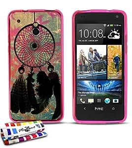 Carcasa Flexible Ultra-Slim HTC ONE MINI (M4) de exclusivo motivo [Dreamcatcher] [Rosa] de MUZZANO  + ESTILETE y PAÑO MUZZANO REGALADOS - La Protección Antigolpes ULTIMA, ELEGANTE Y DURADERA para su HTC ONE MINI (M4)