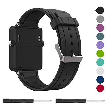for Garmin vivoactive Band,EasyJoy Soft Silicone Replacement Band for Garmin vivoactive Smart Watch,Not fit Garmin vivoactive hr (Black)