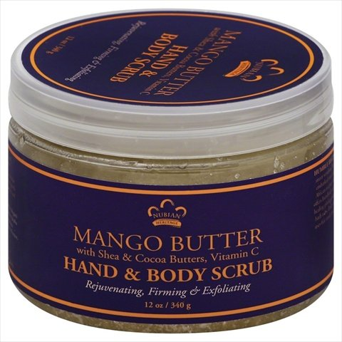 Nubian Heritage Hand and Body Scrub - Mango Butter - 12 oz