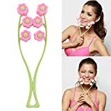 Gold Happy Portable Face Lift Massage Roller Flower Shape Elastic Anti Wrinkle Face-Lift Slimming Face Face Shaper Relaxation Beauty Tools