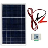 ECO-WORTHY 10W Poly Solar Panel System kit + 3A Charge Controller + 30A Battery Clips for Battery Charging
