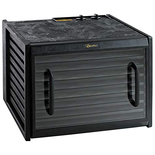 Excalibur 3926TCDB 9-Tray Electric Food Dehydrator with Clear Door Adjustable Temperature Settings and 26-Hour Timer Made in USA, Black