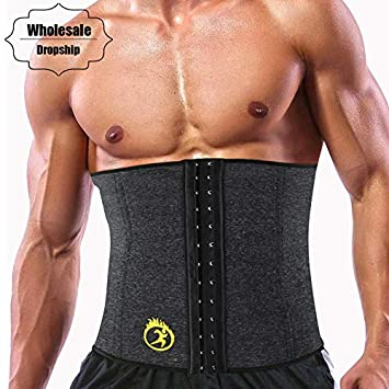 3ae933041 Image Unavailable. Image not available for. Color  OUSPOTS Hot Shaper Mens Slimming  Waist Trainer Neoprene ...
