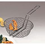 American Metalcraft CBC12 American Metalcraft CBC12 Culinary Basket, Coarse Mesh, Tinned Steel, 9'' Handle, 12'' Diameter, 3'' Height, Steel,