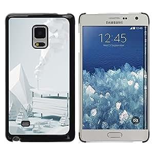 TopCaseStore / la caja del caucho duro de la cubierta de protección de la piel - White Winter Scenery - Samsung Galaxy Mega 5.8 9150 9152