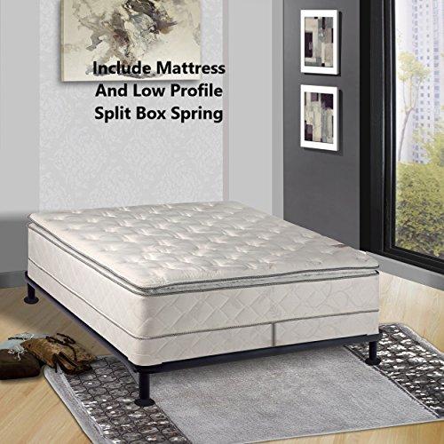 Continental Sleep, Medium Plush Pillowtop, Orthopedic type Mattress and Box Spring and 4-inch Box Spring,Cal King Size