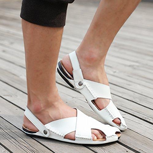 Xing Lin Flip Flop De La Playa Sandalias De Verano Nuevos Jóvenes Hombres S Sandalias Wild Calzado Casual Sandalias Transpirables Calzado De Playa white