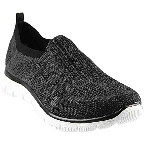 Skechers Sport Damen Empire Inside Look Fashion Sneaker Schwarz-Weiss
