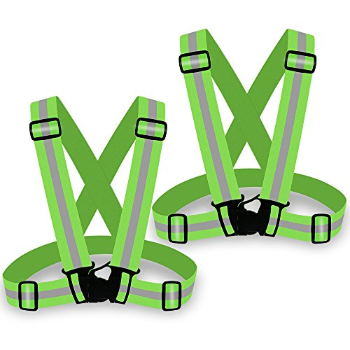 Dhl 100pcs Unisex Outdoor Cycling Safety Vest Bike Ribbon Bicycle Light Reflecing Elastic Harness For Night Riding Running Bicycle Accessories