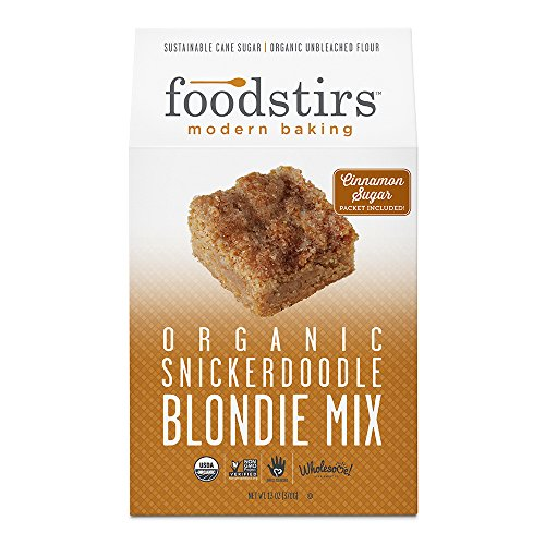 Foodstirs Organic Snickerdoodle Blondie Mix 13 Ounce, (Pack of 3)