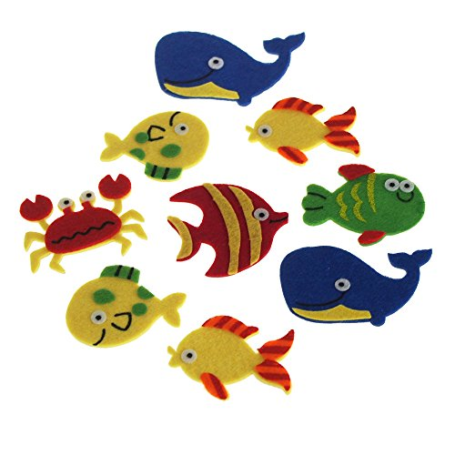 Homeford Self-Adhesive Sea Creatures Felt Die Cuts, 2-Inch, 7-Count