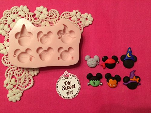 Halloween II Mickey Minnie Mouse, Disney ,fondant, soap cupcake topper Cake Silicone Mold By Oh! Sweet Art FDA Approved for Food, Cupcakes (Disney Cakes And Sweets)