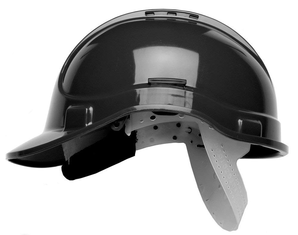 Scott HC300 Vented Safety Helmet, Hard Hat Black with Sweatband