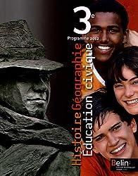 Histoire Géographie Education civique 3e : Programme 2012