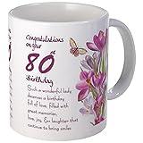 Best CafePress Birthday Gift For Women - CafePress - 80Th Birthday Crocus Gift Mug Mugs Review