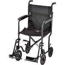 "NOVA Medical Products 19"" Lightweight Transport/Wheelchair, Black"