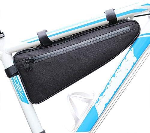 バイクフレームバッグ防水自転車トライアングルバッグサイクリングバッグフロントトップチューブバッグ自転車電話ポーチバッグロードマウンテンバイク/BMXバイク/バイクバイクなどに適しています。