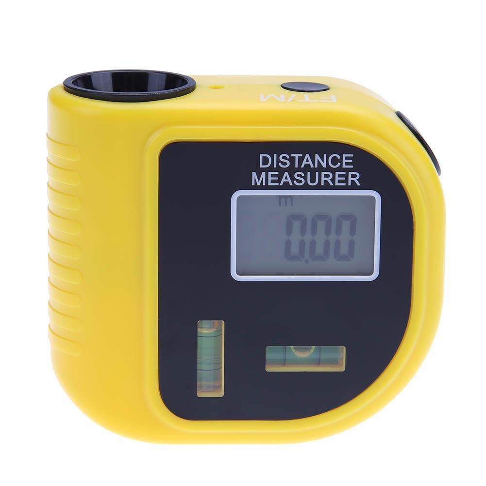 Childplaymate Ultrasonic Digital Rangefinder Handheld Infrared Measure Diameter Distance Meter Level Tool