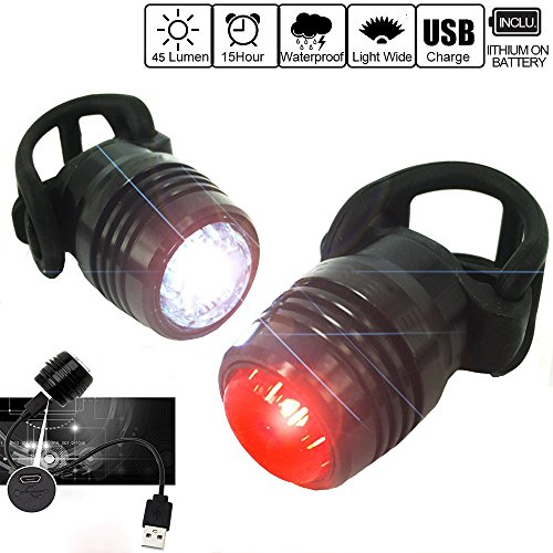 Bike Tail Light Set - USB Rechargeable Water Resistant Bike Light for Cycling, Running & Backpacks MTB & Road for Adult Kids -  OSOPOLA, OUEQBI_1506