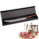 """Goetland Luxurious 16 1/2"""" Champagne Saber Opener Sword Knife Sabrage, with Gift Box, Red Wood Handle"""