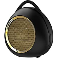 Monster SuperStar HotShot Portable Bluetooth Speaker, Black/Gold-NFC Capable, clip to a backpack, jacket or belt loop, 5.5 hr play life