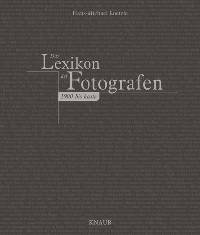 Das Lexikon der Fotografen