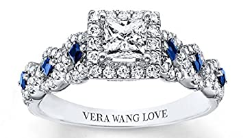 Vera Wang Love Sapphires 14K White Gold Band Wsc9KJr