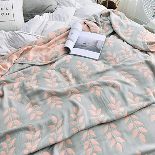 (Scientific Sleep Wheat Cozy Muslin Bamboo Cotton Blanket Ful/Queen, Throw Blanket for Bed, Couch & Sofa, Summer Bedding Coverlet (F/Q 78