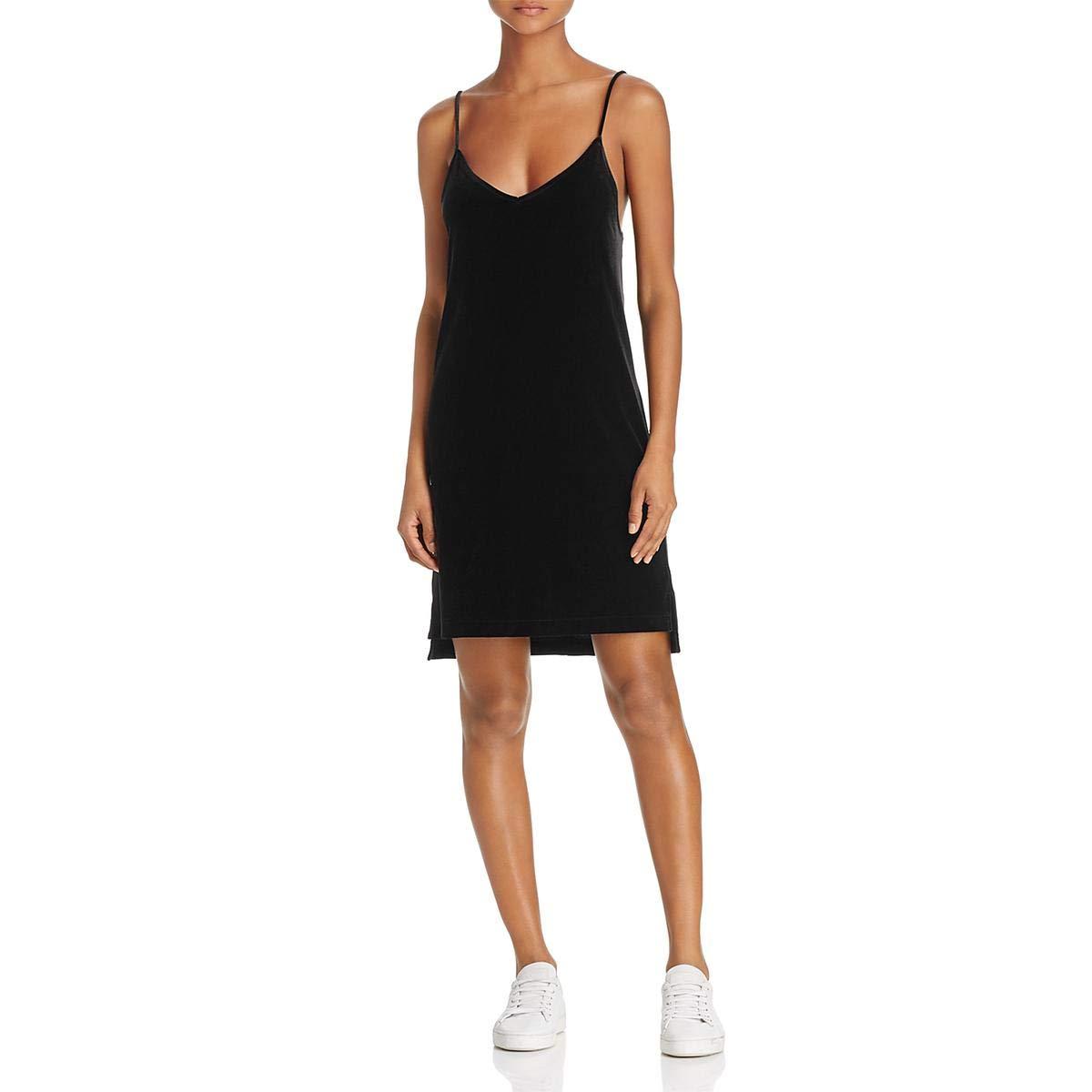 Black Rag & Bone Womens Amber Velvet Party Slip Dress