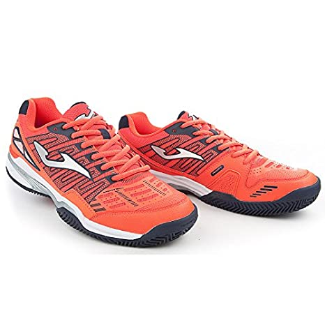 Zapatilla Joma Padel Slam Orange Fluor Clay Talla 41 EUR: Amazon ...