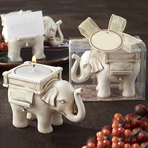 Retro Lucky Elephant Tea Light Candle Holder Candlestick Wedding Favor Home Decor hwangli]()